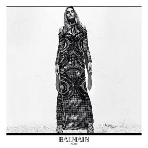 balmain campaign black white