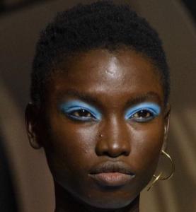 Eyeshadow runway blue eyeshadow