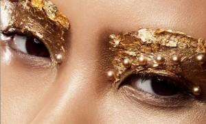 how to wear metallic makeup, metallic makeup tutorial, model makeup tips, how to be a model