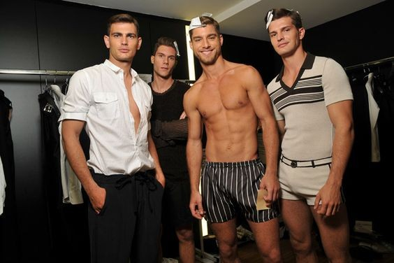 male model workout